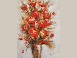 Bouquet Wall Art Flower in Vase Oil Painting