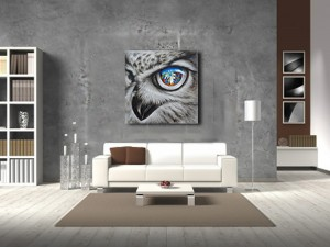 Hawk Eye Wall Art Wildlife Animal Oil Painting
