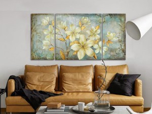 Floral Wall Art Flowers Oil Painting Set