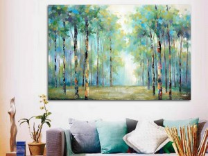 Walk in the Birch Trees Oil Painting
